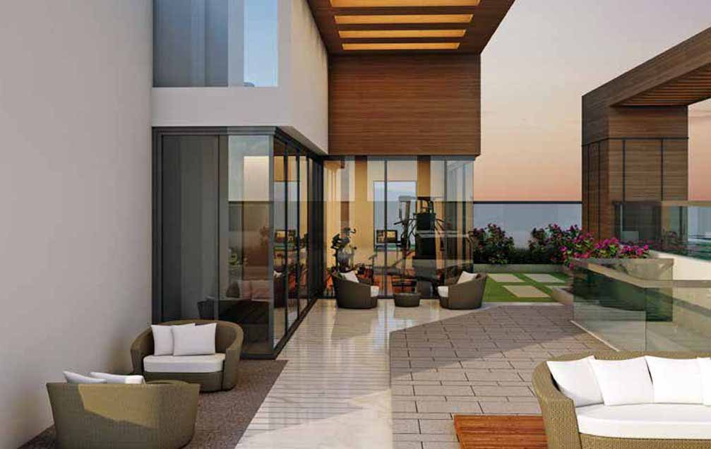 Lifestyle at Rustomjee Yazarina III - Rooftop lounge